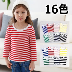 16 Colors Border Long Sleeve T-shirt Kids Children's Clothing