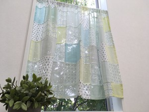 [ 2020NewItem ] Patchwork Cafe Curtain Green