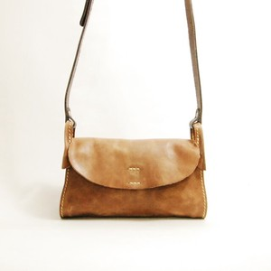 Genuine Leather Flap Shoulder Bag