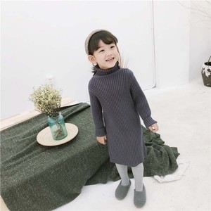 Children's Clothing One-piece Dress Knitted Kids Korea