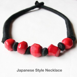 Bobbin Coral Choker Necklace Japanese Style Accessory