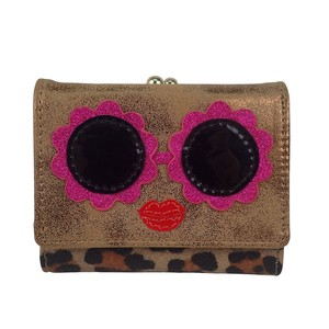 Glasses Applique Coin Purse Wallet