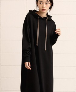 New Color Fleece Long Flare One-piece Dress