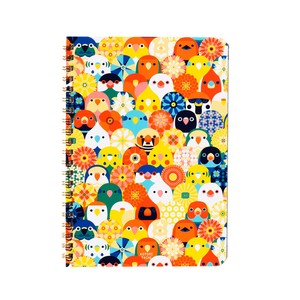 KOTORITACHI Ring Notebook Small Birds Bouquet