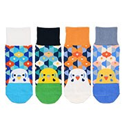 KOTORITACHI Flower Pattern Socks Parakeet 4 Colors