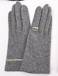 Big Accessory Embroidery Attached Jersey Glove