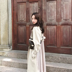 Korea Fashion Bag Pleats Trench Outerwear Trench Bag Pleats