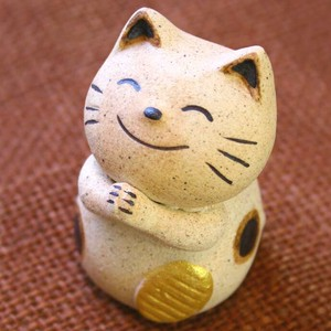 A Wish Ceramic Ornament Doll Cat Fortune
