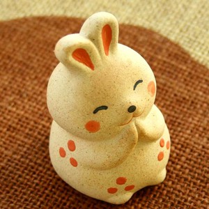 A Wish Rabbit Ceramic Ornament Doll Rabbit Fortune Good Luck