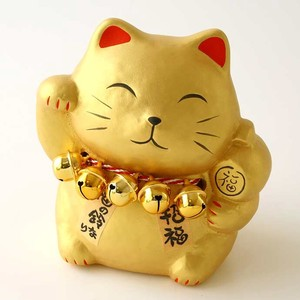Beckoning cat 1 Pc Ceramic Ornament Doll Piggy Bank Cat Beckoning cat Fortune