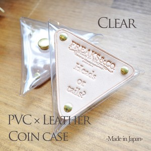 Leather Clear Coin Case Clear