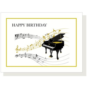 Piano Music Box Card Birthday Birthday