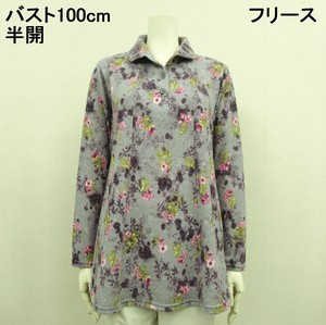 A/W Fleece Floral Pattern Attached Tunic