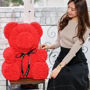 Rose Big Large Artificial Flower rose Present Gift Teddy Bear Welcome