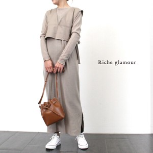 A/W Gigging Twill Layered One‐piece dress.