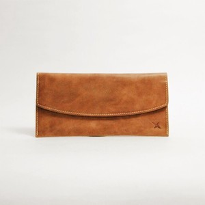 Genuine Leather Flap Long Wallet