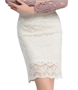 Casual Party Lace Skirt Lace Skirt White