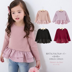 Fleece Double Frill Pullover 4 Colors Kids Girl