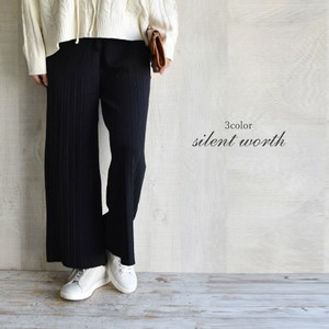 A/W Pleats Processing Knitted Pants
