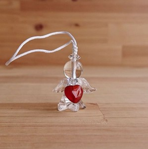 Angel Charm Agate Heart