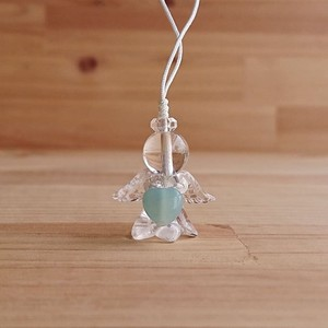 Angel Charm Amazonite Heart