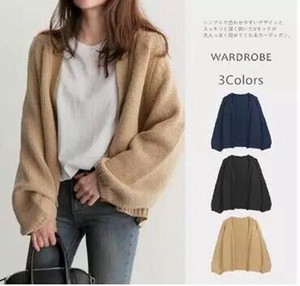 Korea Short Knitted Sweater Cardigan Top V-neck