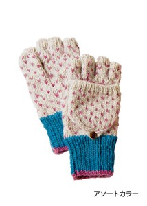 Hand Knitting Recycling Wool Glove