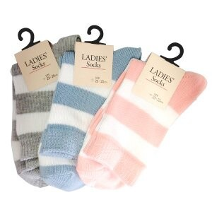 S/S Pot Ladies Border Socks