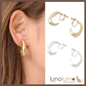 Earring Ladies Gold Silver Metal Hoop Elase