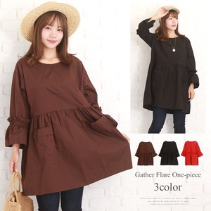 Gather Switch Flare One-piece Dress Flare One-piece Dress Tunic Korea Ladies