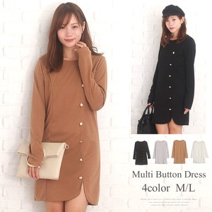 Long Sleeve Multi Button Dress Slim Adult Sexy Korea Fashion Ladies