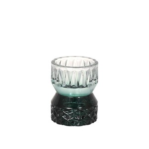 [DULTON] GLASS CANDLE HOLDER EMERALD