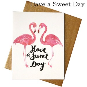 Greeting Card Present Gift Gift Flamingo