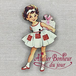 France Wooden Button Atelier Gift Girl