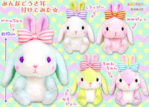"""Poteusa Loppy"" Big Ribbon Stuffed toy of Rabbit Size LMC"