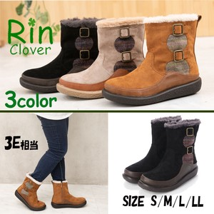 Rin Clover Double Belt Dark Red Short Boots
