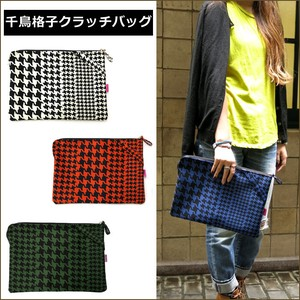 Bag Houndstooth Clutch Bag Tablet Case Pouch A4 size