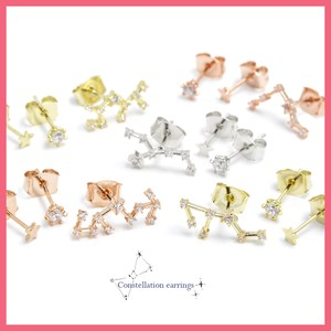 Cubic Constellation 3 Pcs Set Pierced Earring