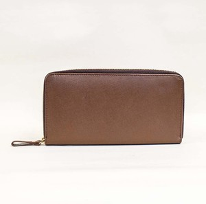 Cow Leather Long Wallet Men's Ladies Leather Brown