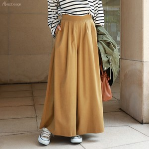 Peach Material Waist Tuck wide pants