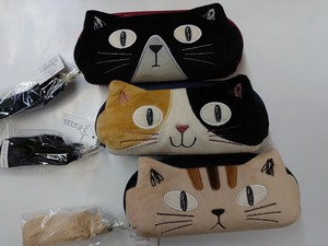 Noah Family Trio Cat Eyeglass Case Cat Family