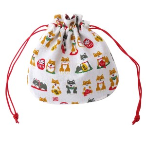 Japanese Style Weather Shiba Dog Pouch 3 Colors Assort