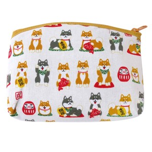 Japanese Style Weather Shiba Dog Bracelet Pouch 3 Colors Assort