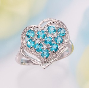 Color Topaz Heart Ring