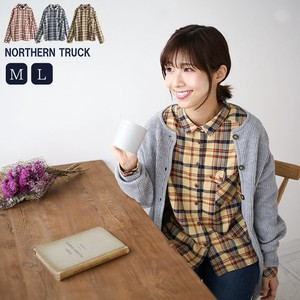 Checkered Shirt Shirt Ladies Long Sleeve Rack Checkered Shirt