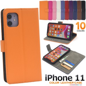 Colorful 10 Colors iPhone Color Leather Notebook Type Case