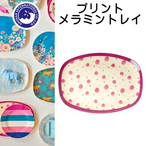 Print Melamine Tray Water Pink