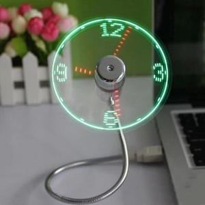 USB Clock/Watch Electric Fan