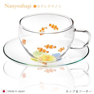 Cups & Saucer Fading Clownfish Heat-Resistant Glass 9p