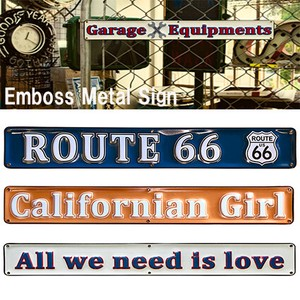 California Emboss Metal Sign